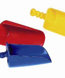 Set of 6 large scoop shovels