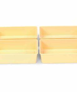 Four Cream Half Trays