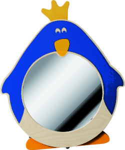 Penguin Round Mirror