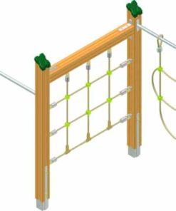Zig-zag climbing equipment