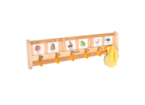 6 Welcome Wall Pegs with Lables