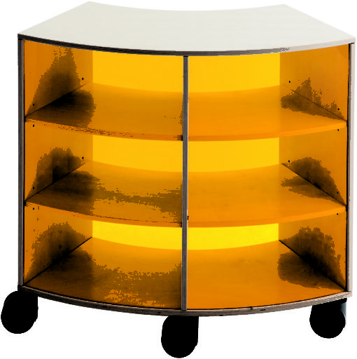 Wave cabinet with acrylic