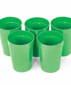 Five Green Cups