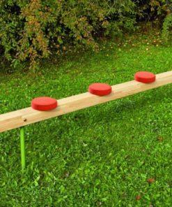 Balancing beam with discs