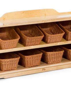 Craft Shelf 4 with Totes or Baskets