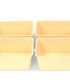 Four Cream Quarter Trays