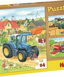 HABA Puzzle Tractor & Co. 24 pcs