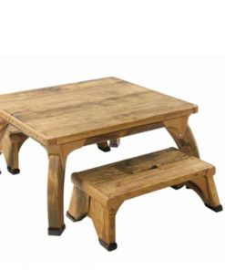 Low Square Play Table Set