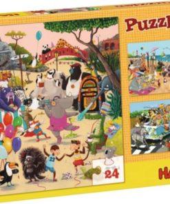 HABA Puzzle Crazy Animals 24 pcs