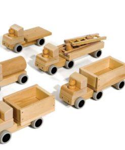 Set of Five Small Trucks